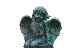 Statue de cupidon d'isolement Photographie stock