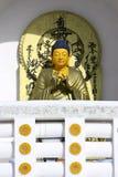 statue de détail de buddhe Images libres de droits