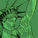 Statue de détail de visage de liberté Photographie stock