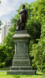 Statue de Daniel Webster dans le Central Park, New York images libres de droits