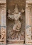 Statue de danser Vishnu au temple de Shirangam Images stock