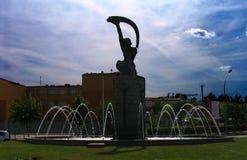 Statue de danseur de ventre - Mérida - Espagne Photographie stock libre de droits