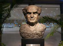 Statue de David Ben-Gurion Photographie stock libre de droits