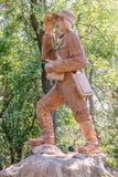 Statue de David Livingstone en Victoria Falls, Zambie Photo stock