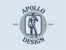 Statue de David ou d'Apollo illustration de vecteur