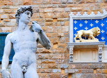 Statue de David par Michaël Angelo Photos stock