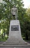 Statue de Decebal dans Deva photo libre de droits