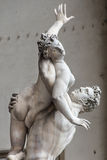 Statue de delle la Sabine, de Lanzi, della Sig de Ratto de bungalow de Piazza Photo libre de droits