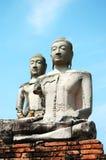 Statue de deux Bouddha Photo libre de droits