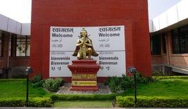 Statue de Dieu à Katmandou, Népal Images libres de droits