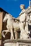 Statue de dioscure sur le Campidoglio, Rome Image stock