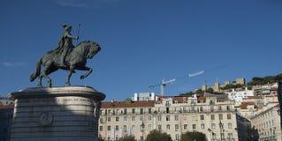 Statue de Dom Joao I à Lisbonne, Portugal photographie stock