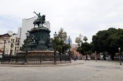 Statue de Dom Pedro I, dans la place de Tiradentes photos libres de droits