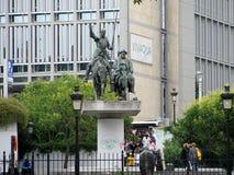 Statue de Don Quixote et de Sancho Panza à Bruxelles image stock