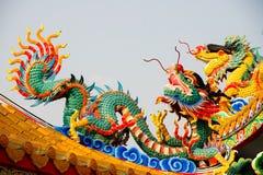 Statue de dragon chinois Photographie stock libre de droits