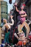 Statue de Falla de Valence, Espagne photos libres de droits