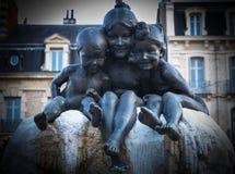 Statue de famille Images stock