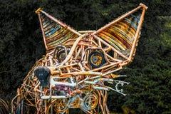 Statue de Fox - matériaux réutilisés photo libre de droits
