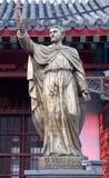 Statue de Francis Xavier de saint dans le saint avant Joseph Cathedral dans Pékin photographie stock libre de droits