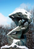 Statue de Frederic Chopin Images stock