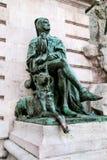 Statue de Galeotto Marzio d'historien à Royal Palace à Budapest photo stock