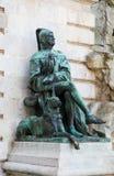 Statue de Galeotto Marzio d'historien chez Buda Castle, Budapest, Hunga photos stock