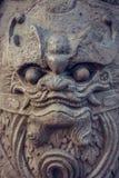 Statue de gardien de pierre de Wat Pho Bangkok, Thaïlande Photographie stock