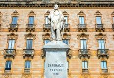 Statue de Garibaldi à Trapani, Italie Photos libres de droits