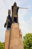 Statue de Gediminas, la grille de tabulation de la Lithuanie Image libre de droits