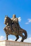 Statue de Genghis Khan au mausolée Images libres de droits