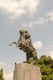 Statue de Georgios Karaiskakis dans Sidagma Athènes Photographie stock libre de droits