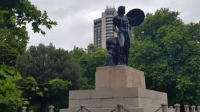 Statue de guerrier dans le coin de Hyde Park Photos libres de droits