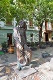 Statue de Hans Christian Andersen à Bratislava, Slovaquie Image libre de droits