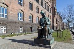 Statue de Hans Christian Andersen à Copenhague Images libres de droits