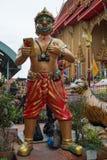Statue de Hanuman au temple de Wat Ta Khian, province de Nothaburi, Thail Photo stock