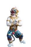 Statue de Hanuman sur le fond blanc Photos libres de droits