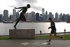 Statue de Harry Winston Jerome, Vancouver, Canada Photos libres de droits