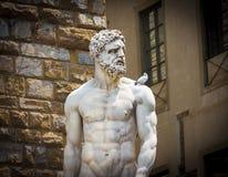 Statue de Hercule et de Cacus par Bandinelli Images libres de droits