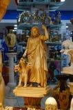 Statue de Hercule et de Cerberus à la boutique de souvenirs, Athènes, Grèce Photos stock