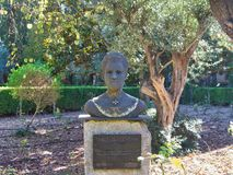 Statue de homa de Catalina de femme à valldemosa images stock