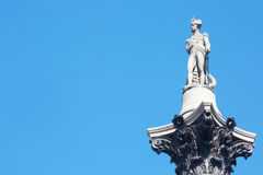 Statue de Horatio Nelson dans Trafalgar Square Photographie stock