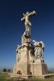 Statue de Jésus-Christ sur une croix. Images stock
