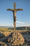 Statue de Jésus sur la croix photographie stock libre de droits
