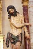 Statue de Jésus sur le Vendredi Saint dans la cathédrale de Burgos Image libre de droits