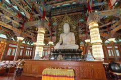 Statue de jade de Sakyamuni dans le temple de couvent de meishansi Images libres de droits