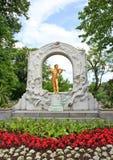 Statue de Johann Strauss Images libres de droits