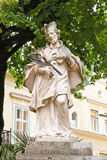 Statue de John de Nepomuk dans mauvais Ischl, Autriche Image stock