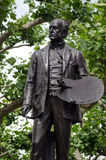 Statue de John Everett Millais, Londres Photo stock