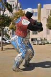 Statue de joueur de baseball à San Diego Image stock