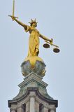 Statue de juge Old Bailey Photo stock